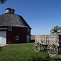 Round Barn Wooden Wagon by David Arment