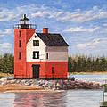 Round Island Light House by Vicky Path