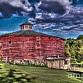 Round Red Barn by Tommy Anderson
