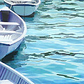 Rounded Row Of Rowboats by Elaine Plesser