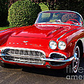 Route 66 - 1961 Corvette by John Waclo