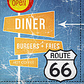 Route 66 Diner by Linda Woods