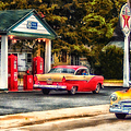 Route 66 Historic Texaco Gas Station by Thomas Woolworth