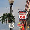 Route 66 In Williams Arizona by Denise Mazzocco