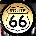 Route 66 Lighted Sign by Denise Mazzocco
