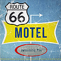 Route 66 Motel by Linda Woods