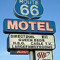 Route 66 Motel Sign 3 by Bob Christopher