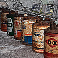 Route 66 Odell Il Gas Station Oil Cans Digital Art by Thomas Woolworth