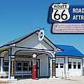 Route 66 Odell Il Gas Station Signage 01 by Thomas Woolworth