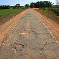 Route 66 - Sidewalk Highway by Frank Romeo