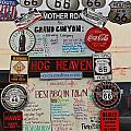 Route 66 Signs by Denise Mazzocco