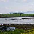 Row Boat At Low Tide - County Mayo Ireland by Bill Cannon