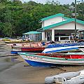 Row Boats On Beach by Gary Wonning
