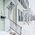 Row Houses On A Snowy Day by Edward Fielding