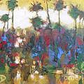 Row Of Palms by Kip Decker