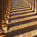 Row Of Pillars by Garry Gay