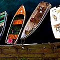 Row Of Rowboats  by Barbara Snyder