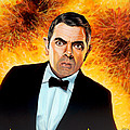 Rowan Atkinson Alias Johnny English by Paul Meijering
