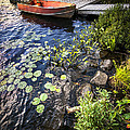 Rowboat At Lake Shore by Elena Elisseeva