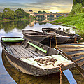 Rowboats On The French Canals by Debra and Dave Vanderlaan