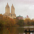 Rowers In Central Park by Alice Gipson