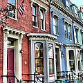 Rowhouses Of Eastern Market Xiv by Steven Ainsworth
