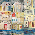 Rowhouses Triptych by Tim Nyberg