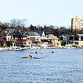 Rowing At Boathouse Row by Bill Cannon
