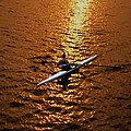 Rowing Into The Sunset by Bill Cannon