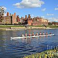Rowing On The Thames At Hampton Court by Julia Gavin