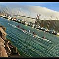 Rowing To The Golden Gate Bridge by Blake Richards