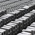 Rows Of Concrete Bricks Drying by Robert Hamm