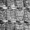 Rows Of Flip-flops Key West - Black And White by Ian Monk