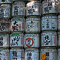 Rows Of Sake Barrels by Jill Mitchell