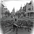 Roy And Minnie Mouse Black And White Magic Kingdom Walt Disney World by Thomas Woolworth