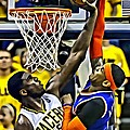 Roy Hibbert Vs Carmelo Anthony by Florian Rodarte