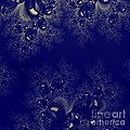 Royal Blue Frost Fractal by Rose Santuci-Sofranko