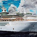 Royal Caribbean Sovereign Of The Seas by Kenneth Harris