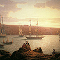 Royal Naval Vessels Off Pembroke Dock Hilford Haven by Robert Salmon