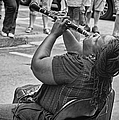 Royal Street Clarinet Player New Orleans by Kathleen K Parker