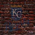 Royals Baseball Graffiti On Brick  by Movie Poster Prints