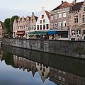 Rozenhoedkaai Bruges by Phyllis Taylor