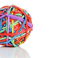 Rubber Band Ball by Wladimir Bulgar/science Photo Library