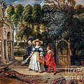 Rubens In His Garden With Helena Fourment by Viktor Birkus