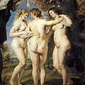 Rubens, Peter Paul 1577-1640. The Three by Everett