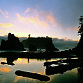 Ruby Beach Sunset Olympic National Park by Ed  Riche