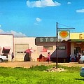 Ruby Cafe Corner Gas by Mick Flynn