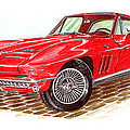Ruby Red 1966 Corvette Stingray Fastback by Jack Pumphrey