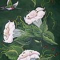 Hummingbird And Lilies by Sharon Duguay