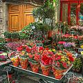 Rue Cler Flower Shop by Michael Kirk